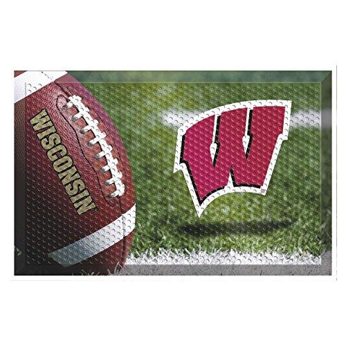 sin Football Scraper Door Mat (Wisconsin Badgers Door Mat Rug)