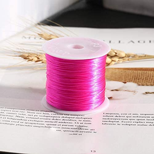 jewelry making wire thread For Diy Bracelet Necklace, Light Olive Strong Stretchy Elastic String 50 meters reel Beading cord