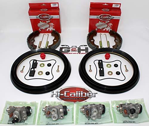 Complete FRONT Brake Rebuild KIT (Includes Shoes, Wheel Cylinders, Hardware) for 2000-2003 Honda TRX 350 Rancher