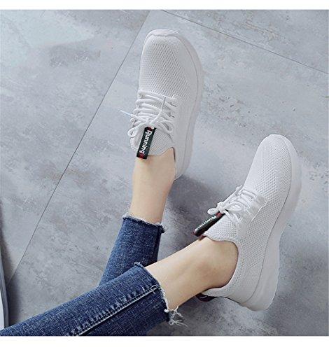 TORISKY Homme Femme Baskets Chaussures de Sport Casual Sneakers Gym Running Shoes Blanc