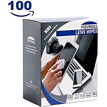 Lens Cleaning Wipes,Disposable,Quick Drying,Without stripes,Individually Wrapped,Cleansing Cloths Great for Eyeglasses,Tablets,Camera Lenses,Screens ...