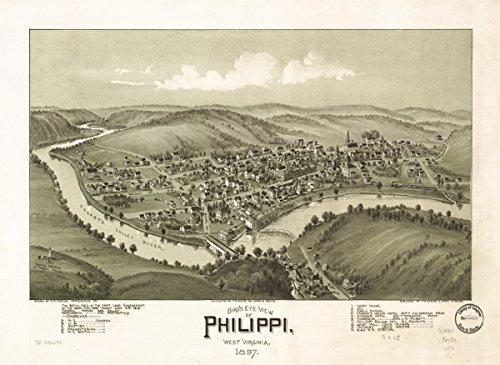 Map: 1897 Bird's eye view of Philippi, West Virginia 1897|Philippi|Philippi|West - Upc Wiki