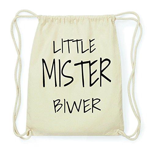 JOllify BIWER Hipster Turnbeutel Tasche Rucksack aus Baumwolle - Farbe: natur Design: Little Mister GnWUMLTxs
