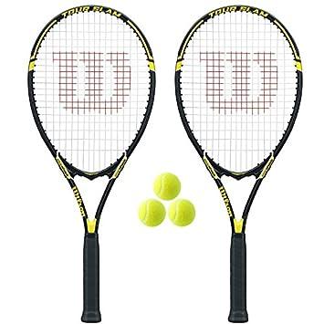 2 x Wilson Tour Slam Raqueta De Tenis + 3 Pelotas Tenis: Amazon.es: Deportes y aire libre