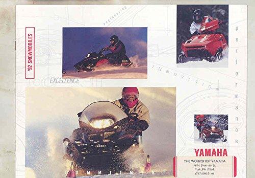1992 Yamaha Vmax Exciter Phazer Venture II Enticer LT Snowmobile Brochure (Venture Mobile)