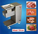 Zinnor Commercial Meat Slicer,1100LB/H 550W Stainless Steel Fresh Meat Cutter (2.5-25mm) Cutting Blade Electric Meat Cutting Machine for Restaurant