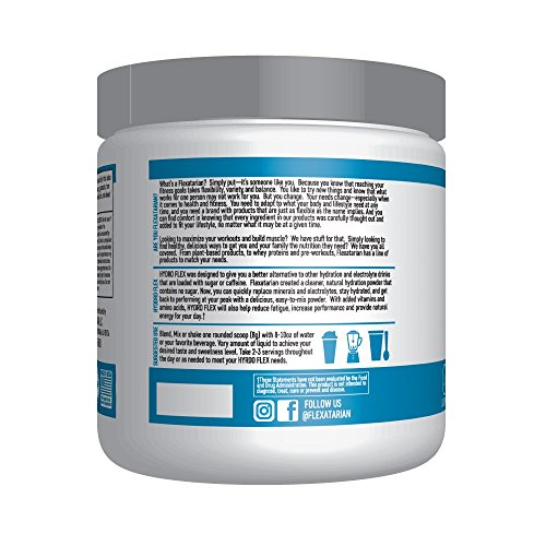 Flexatarian Hydro Flex, Natural Hydration Powder with BCAAs, Pineapple Mango, 30 Servings by Flexatarian (Image #1)