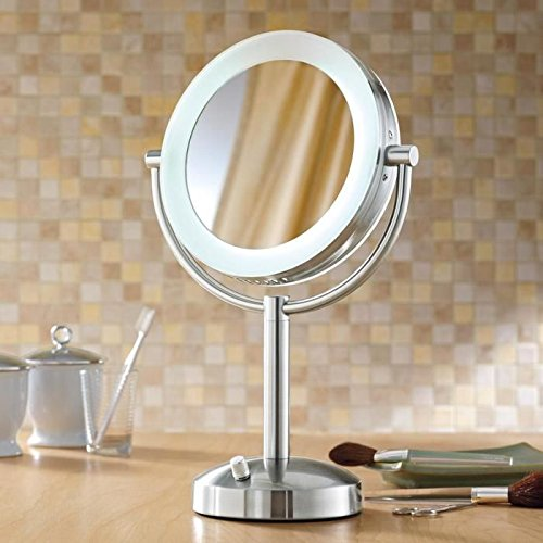 Riorand Lighted Dimmable 1x 10x Magnification Makeup