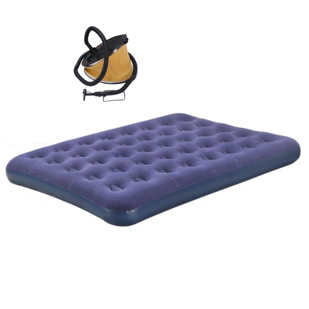 Luft-Betten, die Luftmatratze, Reise im Freien kampieren tragbares Luftfaltbett mit Pedalluftpumpe, 152  203cm