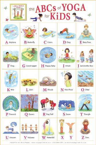 By Teresa Anne Power The ABCs of Yoga for Kids Poster (1st First Edition) [Paperback]