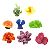 Stock Show 8Pcs/Pack Multicolors Aquarium Decor Artificial Coral Plant Seastar Decor Aquarium Reef Ornament for Fish Tank Decoration