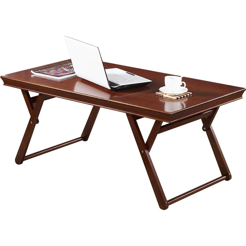 XEWNG テーブル ソリッドウッドのコーヒーテーブル折り畳み学習テーブルシンプルなクリエイティブホームダイニングテーブル (色 : Walnut color) B07GSCHYMB  Walnut color