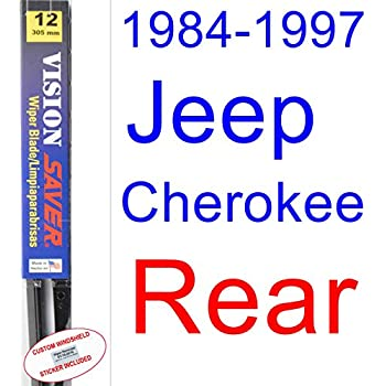 1984-1997 Jeep Cherokee Wiper Blade (Rear) (Saver Automotive Products-Vision Saver) (1985,1986,1987,1988,1989,1990,1991,1992,1993,1994,1995,1996)