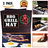 Eating Primal Grill Mat for Outdoor Grill| Set of 3 BBQ Griling Accessories | Non-Stick Cooking Sheets | Reusable and Easy Cleaning BBQ Sheets| Barbecue Grilling Accessories| Heavy Duty with Warranty