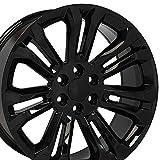 2008 tahoe rims - 22x9 Wheel Fits GM Trucks - Chevy Silverado Style Black Rim, Hollander 5666