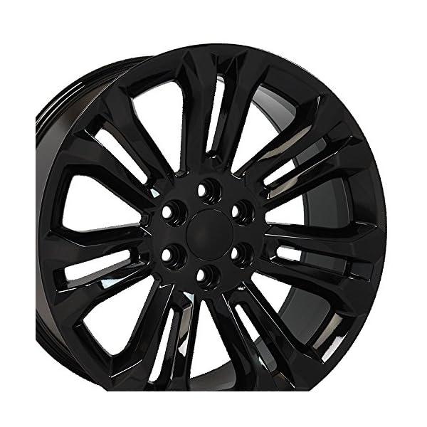 OE-Wheels-22-Inch-Fits-Chevy-Silverado-Tahoe-GMC-Sierra-Yukon-Cadillac-Escalade-CV43-Gloss-Black-22×9-Rim-Hollander-5666