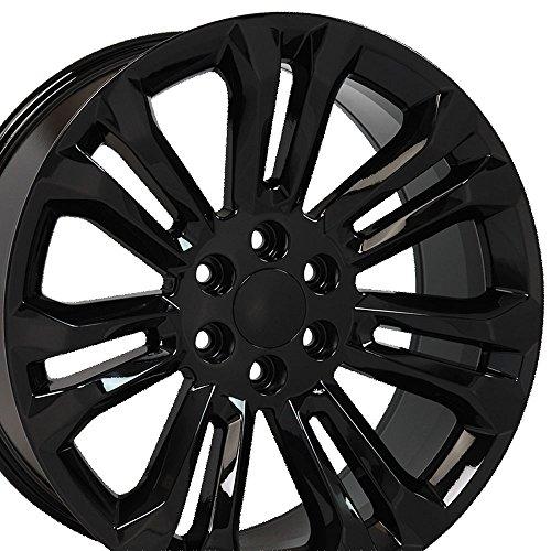 22x9 Wheel Fits GMC Chevy Trucks - Chevy Silverado Style Black Rim, Hollander 5666 (Rims Chevy Blazer)