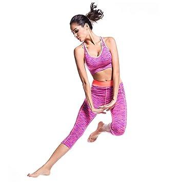 Conjunto de práctica de yoga para mujeres Sin anillo de ...