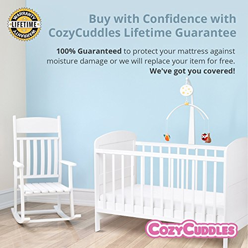 COZYCUDDLES Quilted Waterproof Protector Cover Bedbugs Proof Fully Standard Crib