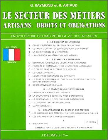 Livres gratuits en ligne SECTEUR DES METIERS  ARTISANS. DROITS ET OB pdf epub