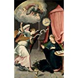 polyster Canvas ,the Best Price Art Decorative Prints on Canvas of oil painting 'Correa de Vivar Juan The Annunciation 1559 ', 16 x 25 inch / 41 x 64 cm is best for Gym gallery art and Home decoration and Gifts