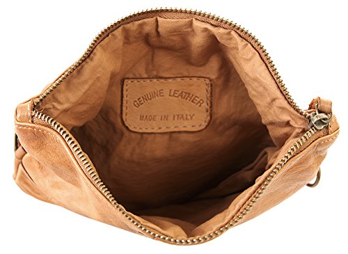 Leder Pochette Cluty Femme echt Cognac U8wSqx