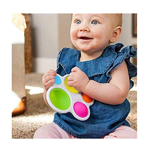 [USA in Stock] Baby Exercise Board,Infant Early Education Intelligence Development and Intensive Training Toys,Attract The Senses for Child Baby's Toys Gifts(The Color of The Ball is Random)