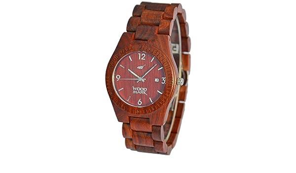 Madera marca relojes Sequoia 7217 - rojo sándalo: Amazon.es: Deportes y aire libre