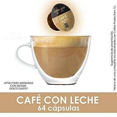 PACK AHORRO- 64 CÁPSULAS COMPATIBLES DOLCE GUSTO®* - CAFÉ CON LECHE: Amazon.es: Alimentación y bebidas