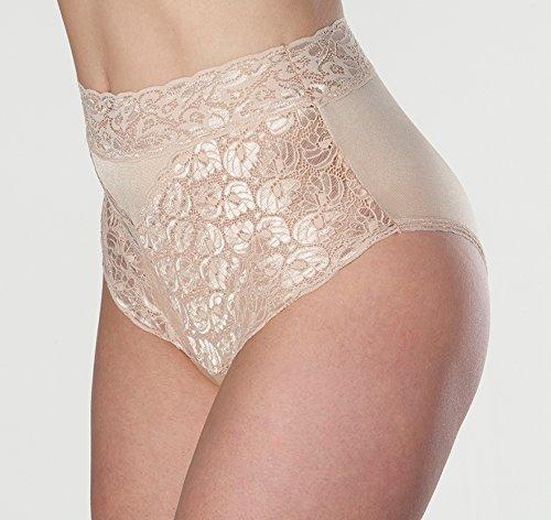 Women's Beige Lovely Lace Trim Incontinence Panties Mediu...