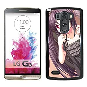 Popular And Unique Designed Cover Case For LG G3 With Asami Asami Fake Azure Arcology Girl Dress Joy black Phone Case BY icecream design