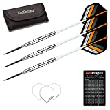 Red Dragon Jeffrey de Graaf 23g - 90% Tungsten Steel Darts with Flights, Shafts, Wallet & Red Dragon Checkout Card