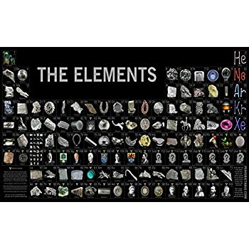 Amazon bingirl 4429 the elements periodic table by theodore bingirl 4429 the elements periodic table by theodore gray science canvas poster 24x38 urtaz Choice Image