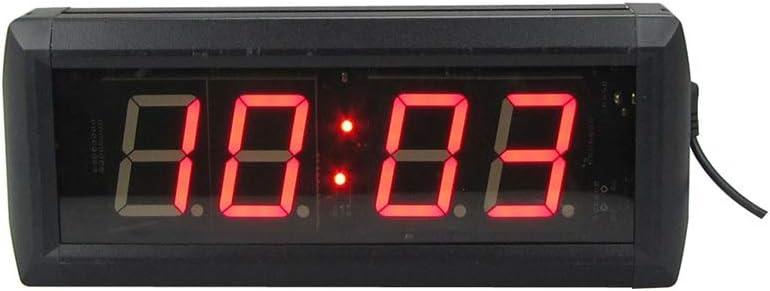 デジタルタイマーウォールクロック LEDフィットネストレーニングカウントダウンジム屋内インターバルタイマー壁時計リモートコントロールブラック カウントダウン間隔タイマー (色 : ブラック, サイズ : 34X10X4CM) ブラック 34X10X4CM