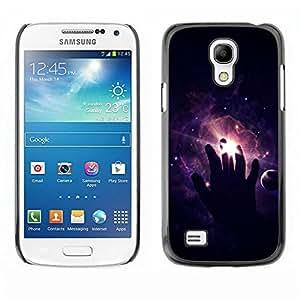 Be Good Phone Accessory // Dura Cáscara cubierta Protectora Caso Carcasa Funda de Protección para Samsung Galaxy S4 Mini i9190 MINI VERSION! // Cosmos Space Deep Meaningful Black