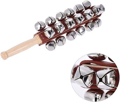 Dean458y - Bastón de madera para niños con diseño de cascabel de ...