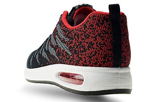 Basket Mode Sneakers Femme tqgold Rouge Running Noir Homme Z Fitness Sport Chaussure de 84CxqzdS