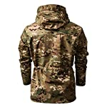 SFYZY Hoodie Veste Sweat Lourd Camouflage Zipper Workerhoodie Pull Veste Tactique Militaire Outdoor Randonnée Chasse… 10