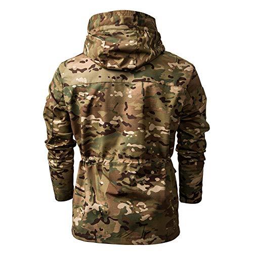 SFYZY Hoodie Veste Sweat Lourd Camouflage Zipper Workerhoodie Pull Veste Tactique Militaire Outdoor Randonnée Chasse… 3