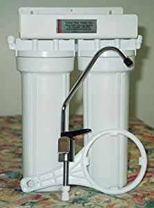 Double Undercounter KDF GAC Water Filter Purifier System - For High Sediment