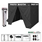 Eurmax Basic 8x8 Ez Pop up Canopy Tent with Photo Booth Printed on 4 Valances Outdoor Party Tent with 4 Removable Zipper End Sidewalls and Carry Bag (8 X 8 Flat Top)