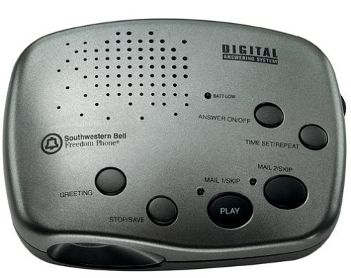 Southwestern Bell FA970 Answering Machine (Black/Stainless Steel)