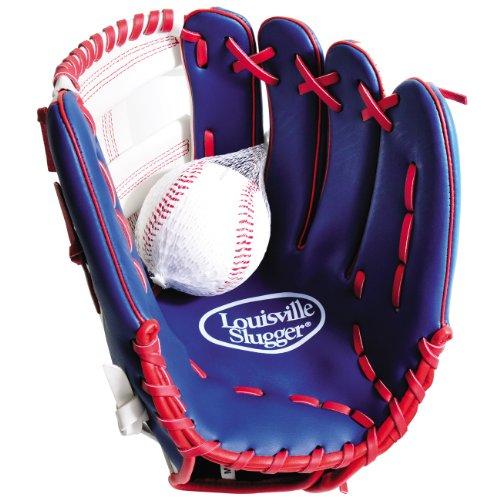 Louisville Slugger Kinder Baseballhandschuh mit Ball, Gr. 30cm (12 inch), Rot