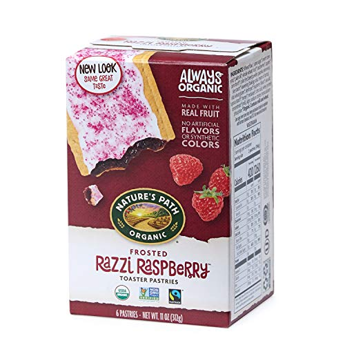 Nature's Path Frosted Razzi Raspberry Toaster Pastries, Healthy, Organic, 6 Count per pack, Pack of ()