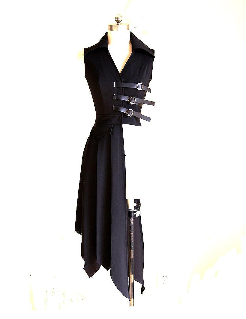 Long Black Pirate Vest Bias Bottom Jacket - DeluxeAdultCostumes.com