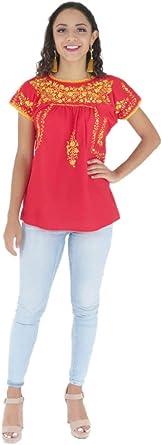 Mexican Clothing Co Mexicano blusa tradicional San Antonino popelín