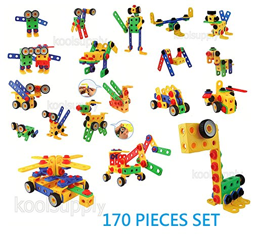 Creative-Builder-Set-92-Pieces-STEM-Building-Blocks-Toys-for-Boys-and-Girls-from-koolsupply-For-3-4-and-5-Years-Old-STEM-Learning-Support