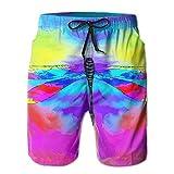 OIYP Tie Dye Dragonfly Men's Basic Swim Trunk L With Pocket