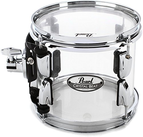 Pearl Crystal Beat Mounted Tom - 8 Inches - Ultra Clear by Pearl