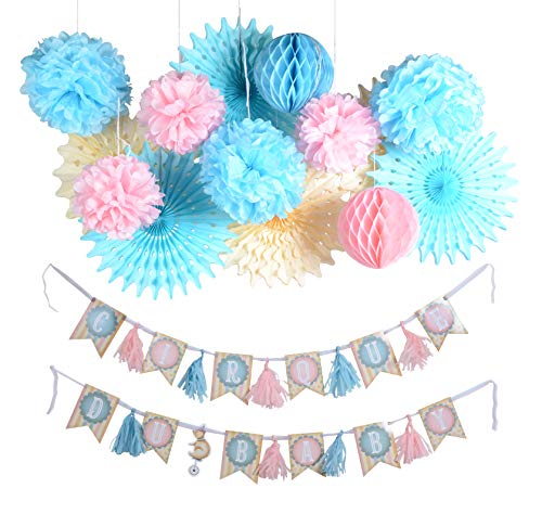 PAPERJAZZ Circus Theme Party Decoration for Baby Shower boy or Girl Birthday Gender Reveal Party sip and See Sprinkle Party -